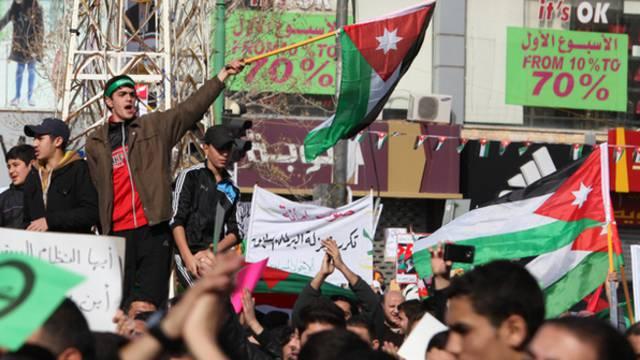 Demonstration in Amman gegen die Parlamentswahlen in Jordanien