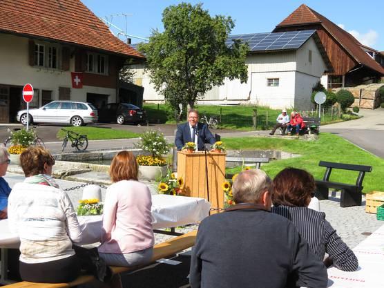 Regierungsrat Roland Fürst bei seiner Ansprache.