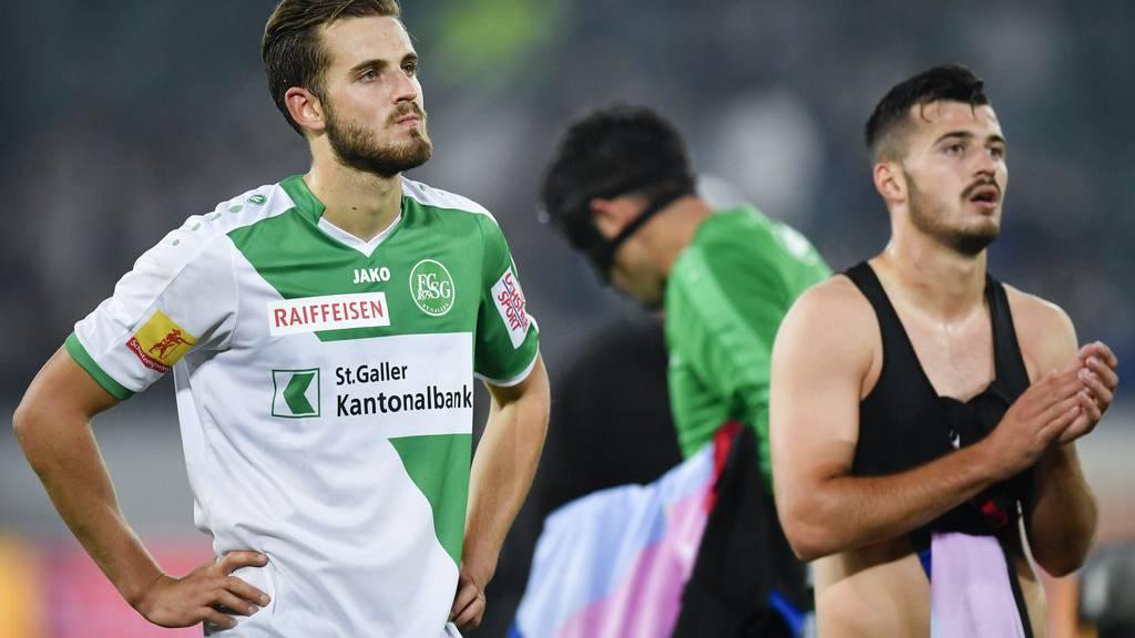 Roy Gelmi (links), hier mit Albian Ajeti, soll den FC St.Gallen bald verlassen.