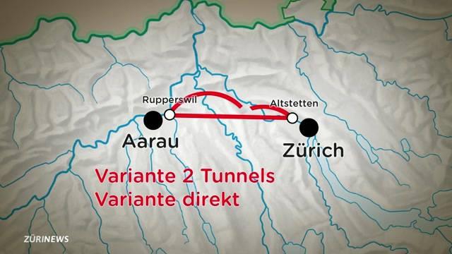 Megatunnel von Zürich nach Aarau