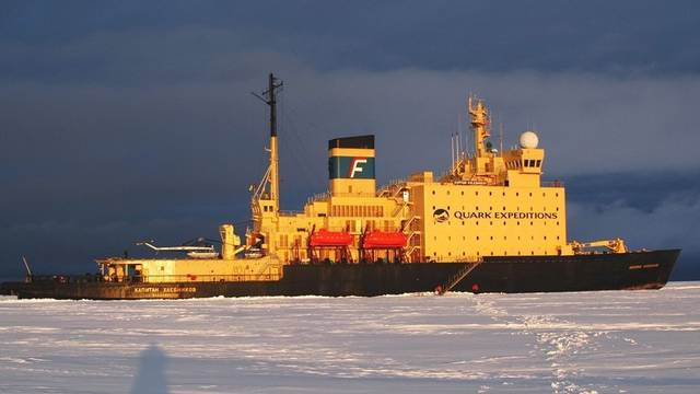 Russischer Eisbrecher am Südpol (Symbolbild)