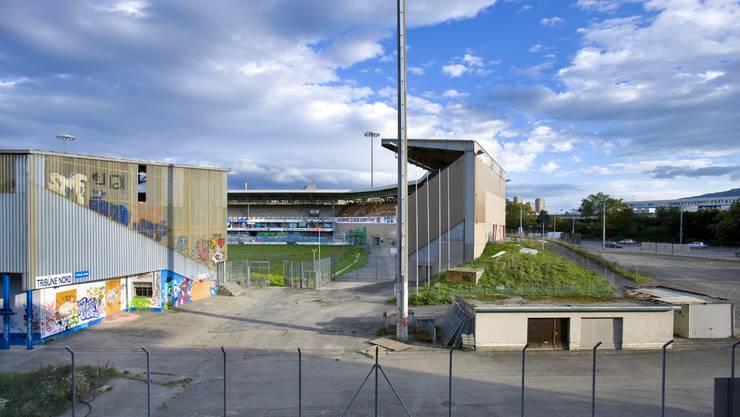 Das alte Fussballstadion Hardturm Zürich im Jahr 2008.