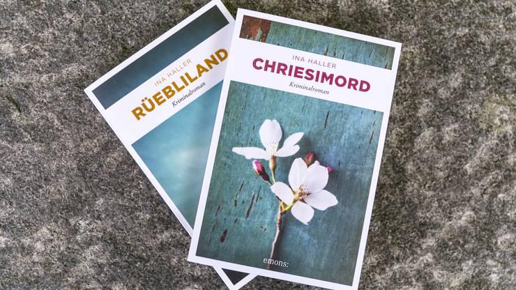 Die Romane «Rüebliland» und «Chriesimond» von Krimi-Autorin Ina Haller.