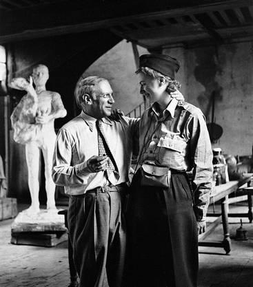 Kriiegsberichterstatterin trifft Pablo Picasso. Paris 1944.